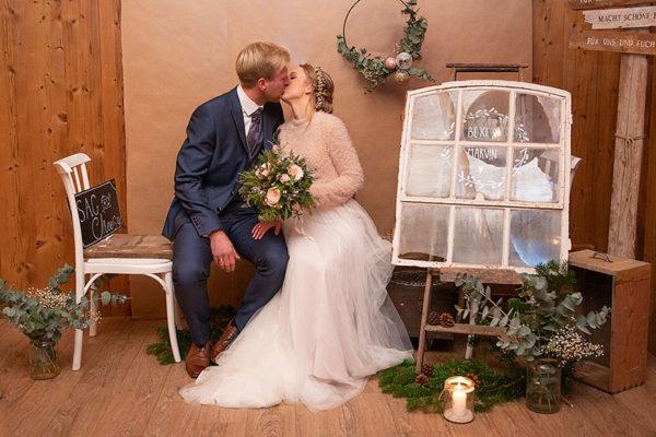 Hochzeitspaar Brautpaar Hof Frien